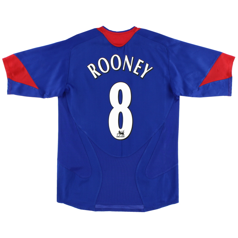 2005-06 Manchester United Away Shirt Rooney #8 S - 195597