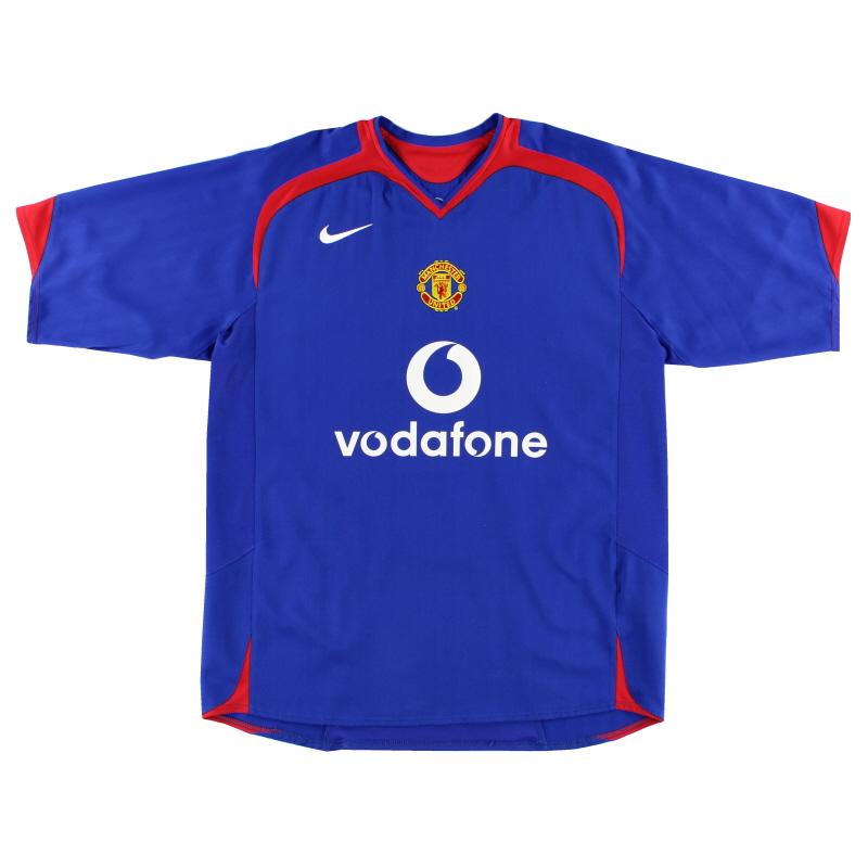 2005-06 Manchester United Away Shirt XL - 195597