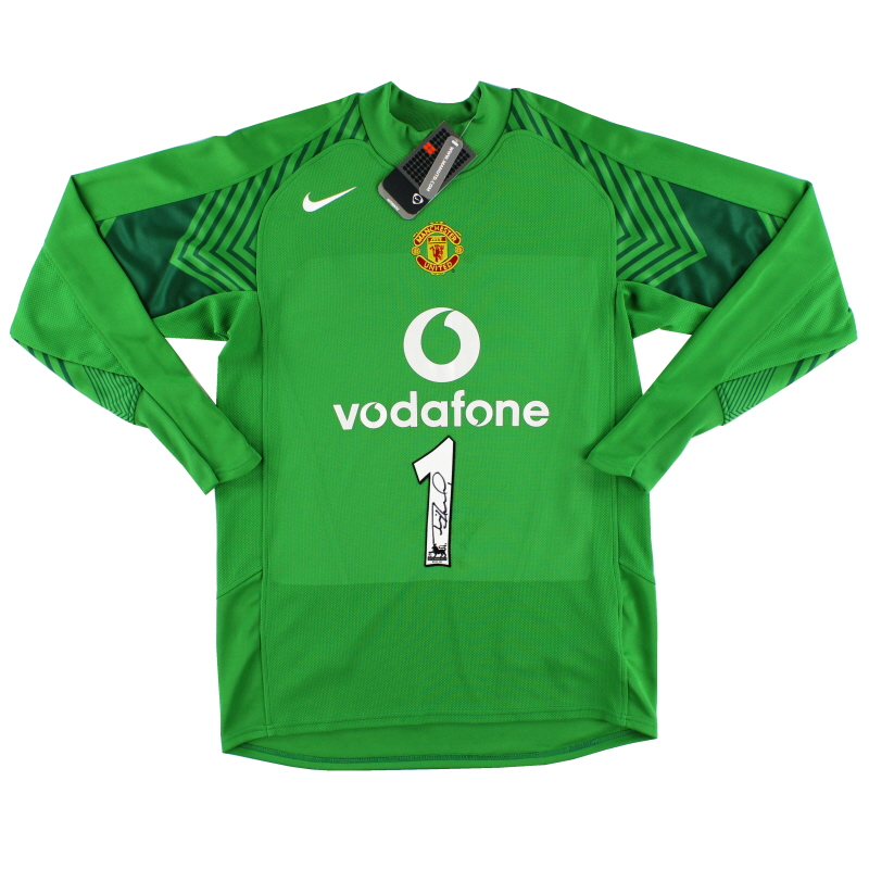 2005-06 Manchester United Signed Goalkeeper Shirt #1 *w/tags* M - 195600