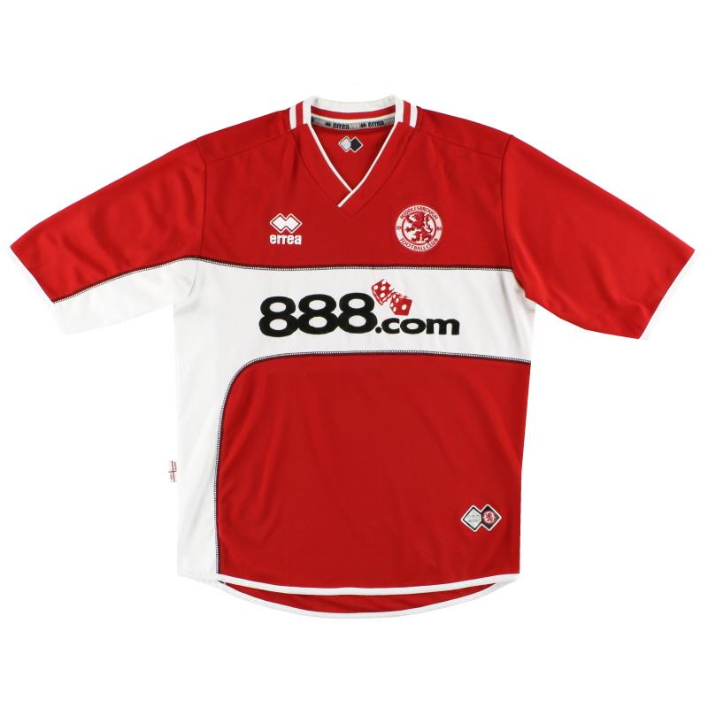 2005-06 Middlesbrough Errea Home Shirt M