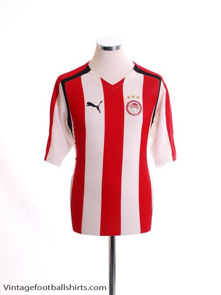 2005-06 Olympiakos Home Shirt S