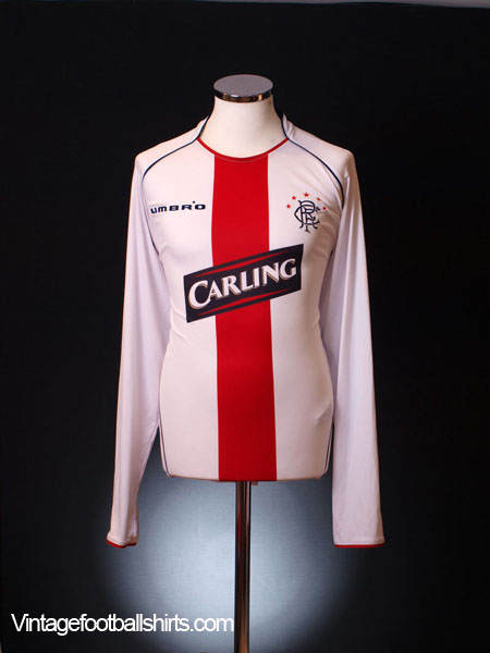 2005-06 Rangers Away Shirt *Mint* L/S XL