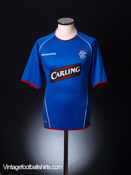 2005-06 Rangers Home Shirt L/S L