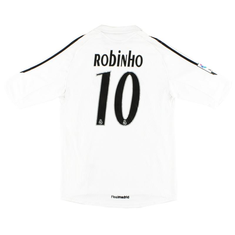 2005-06 Real Madrid Home Shirt Robinho #10 M