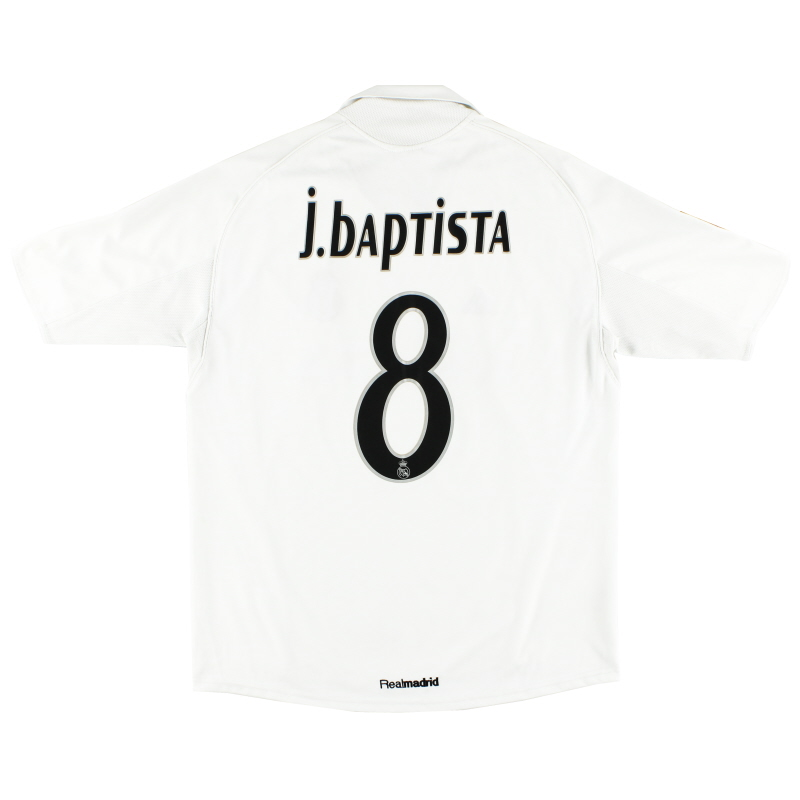 2005-06 Real Madrid Home Shirt J.Baptista #8 XL