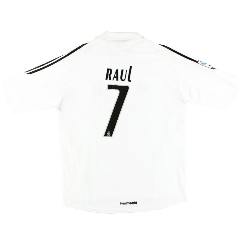 2005-06 Real Madrid Home Shirt Raul #7 XL