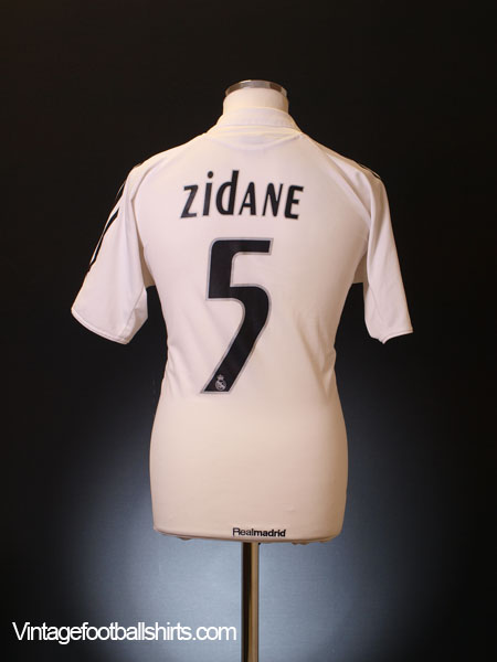 competitive price 4b99e 03c1a 2005-06 Real Madrid Home Shirt Zidane #5 M for sale