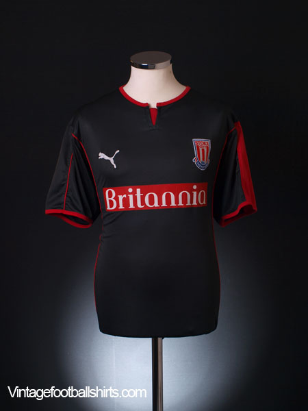 2005-06 Stoke City Away Shirt M