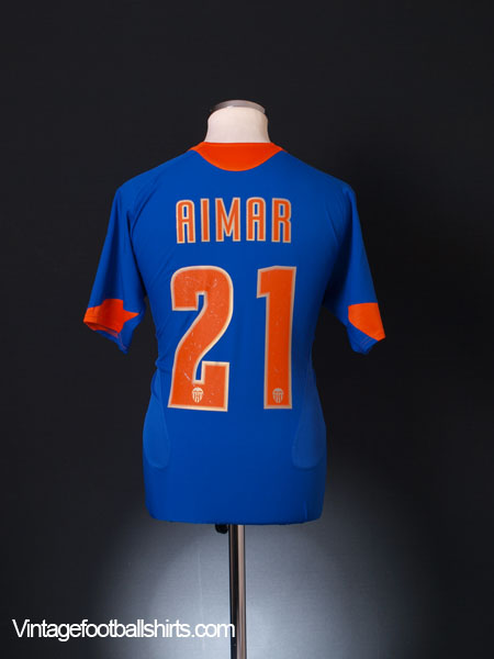 2005-06 Valencia Away Shirt Aimar #21 S