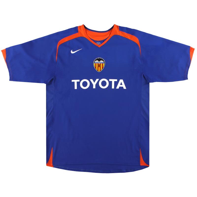 2005-06 Valencia Nike Away Shirt *Mint* M - 195962