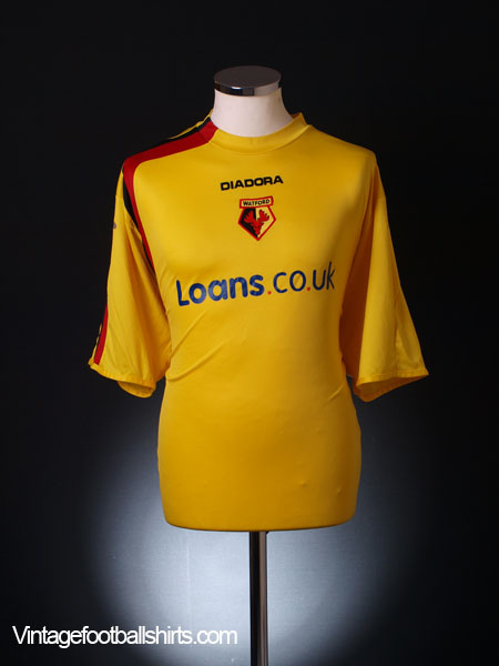 2005-06 Watford Home Shirt XL