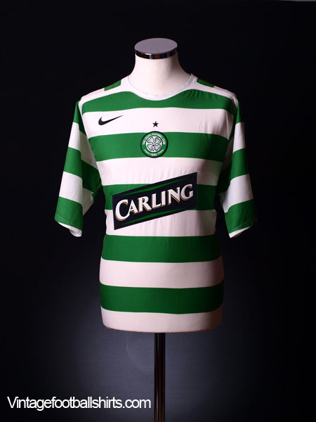2005-07 Celtic Player Issue CL Home Shirt XL