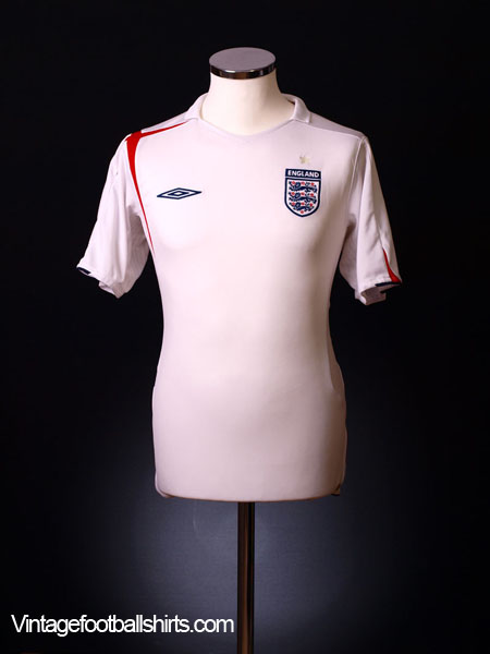 2005-07 England Home Shirt L