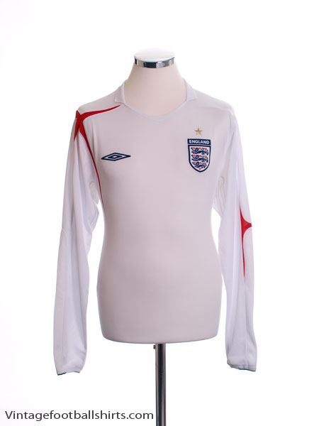 2005-07 England Home Shirt L/S L