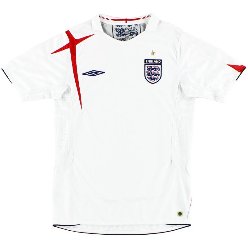 2005-07 England Home Shirt M - 04541365