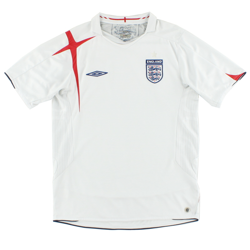 2005-07 England Home Shirt L - 04541365