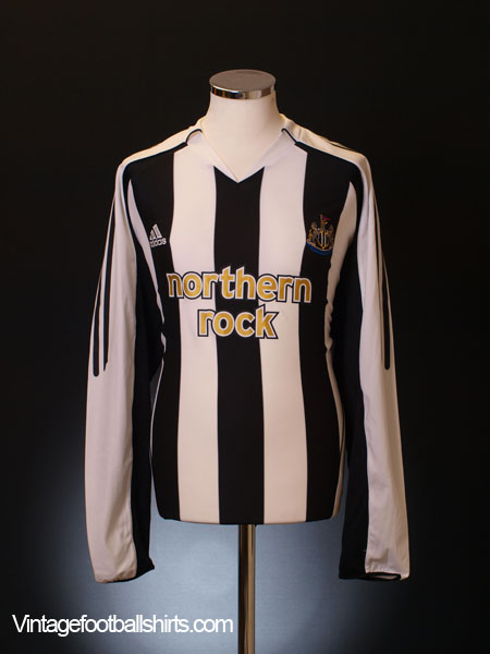 2005-07 Newcastle Home Shirt L/S XL