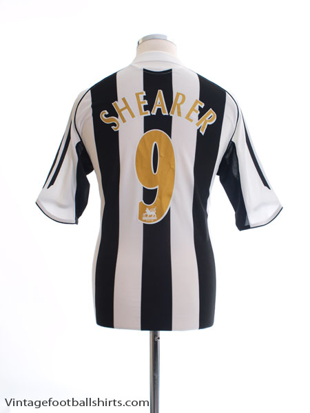 2005-07 Newcastle Home Shirt Shearer #9 S