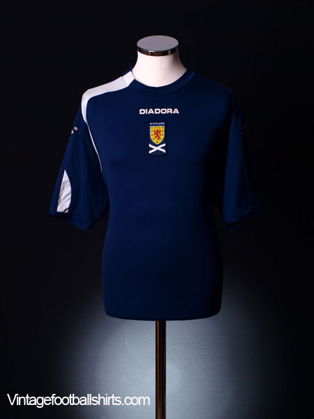 2005-07 Scotland Home Shirt L