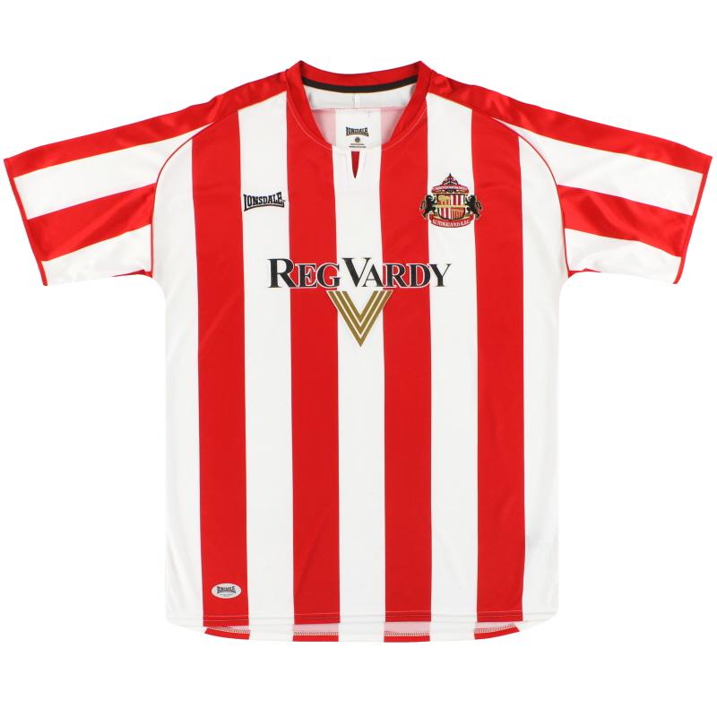 2005-07 Sunderland Lonsdale Home Shirt M
