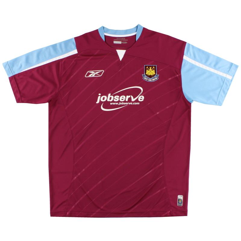 2005-07 West Ham Reebok Home Shirt L.Boys