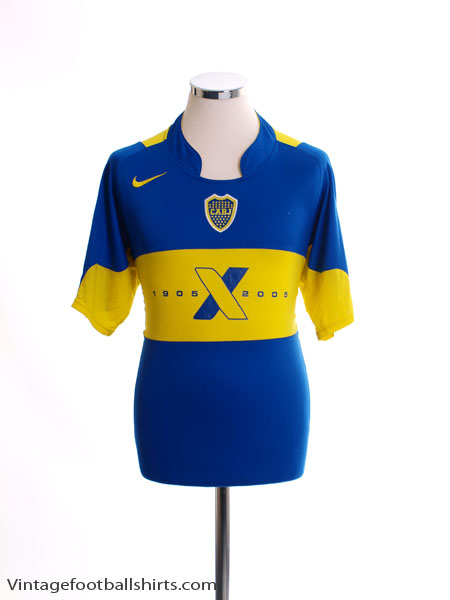 2005 Boca Juniors Centenary Home Shirt L