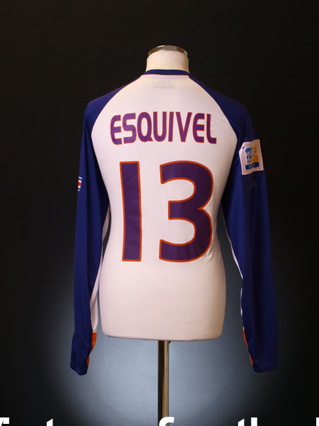 2005 Deportivo Saprissa Match Issued Away Shirt Esquivel #13 L/S (vs. Liverpool)