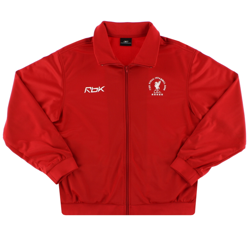 2005 Liverpool 'The Final Istanbul' Reebok Track Jacket M - 521578