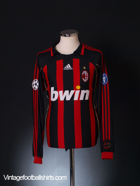 2006-07 AC Milan Champions League Home Shirt L/S L
