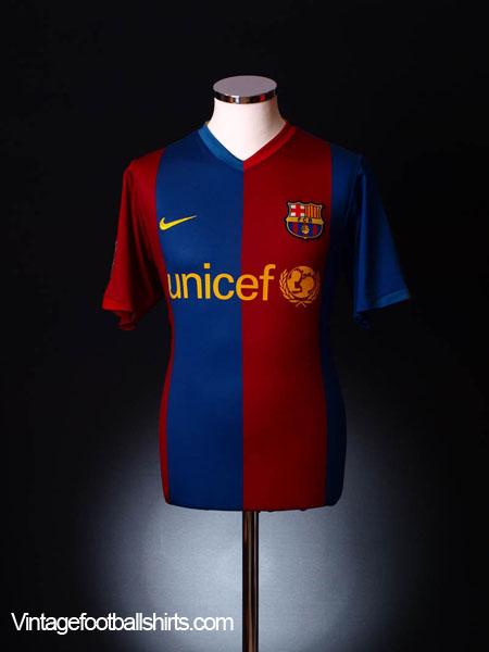 2006-07 Barcelona Home Shirt S