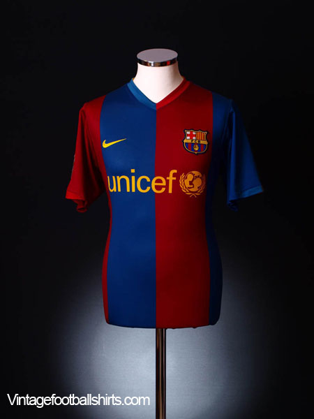 2006-07 Barcelona Home Shirt M.Boys