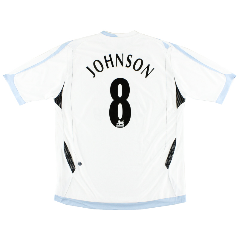 2006-07 Everton Away Shirt Johnson #8 XL
