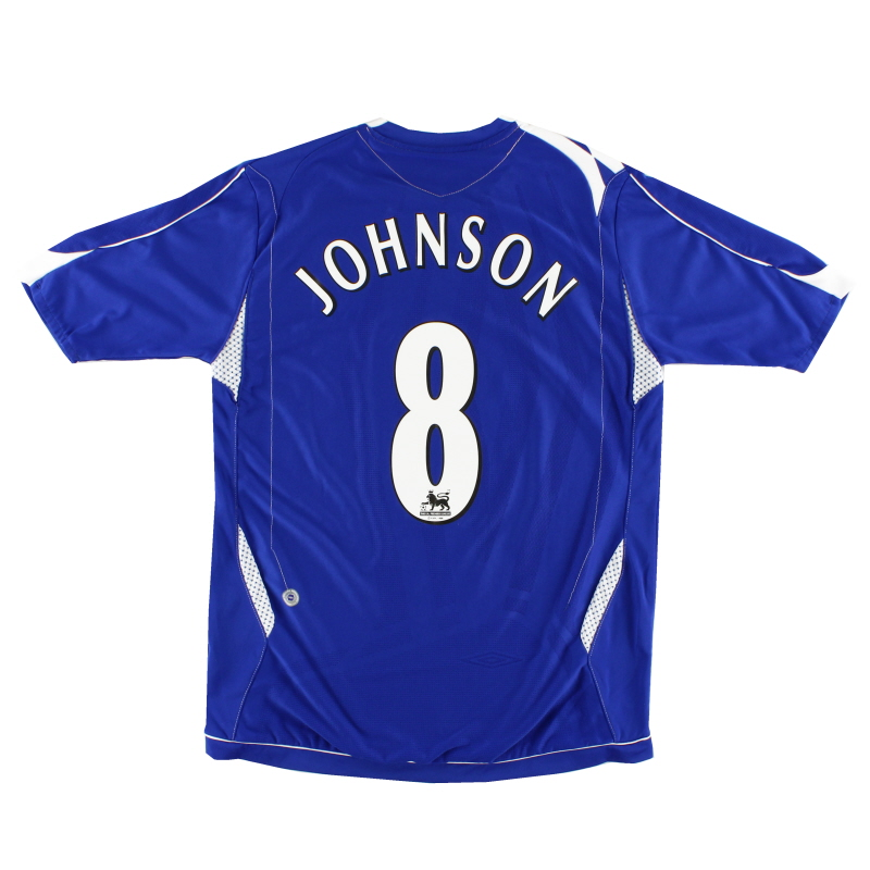 2006-07 Everton Home Shirt Johnson #8 XL.Boys