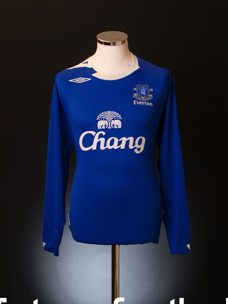 2006-07 Everton Home Shirt L/S L