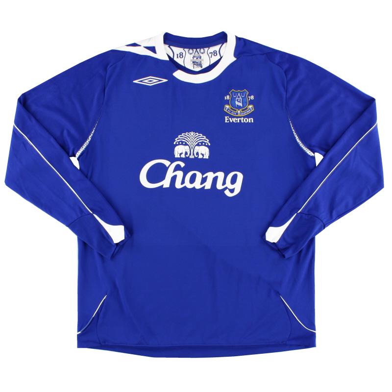 2006-07 Everton Home Shirt L/S L