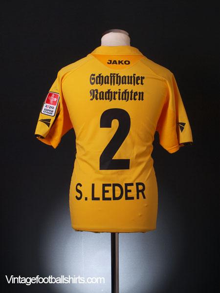 2006-07 FC Schaffhausen Match Issue Shirt S. Leder #2