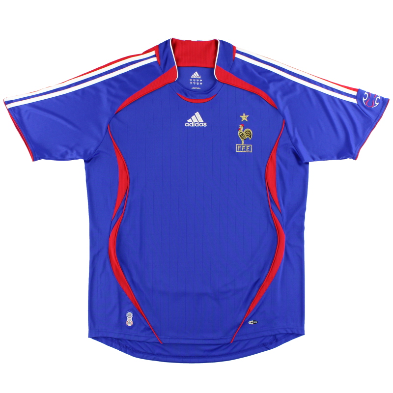 2006-07 France adidas Home Shirt *Mint* L - 740126