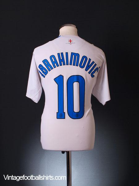 finest selection e6848 8603b 2006-07 Inter Milan Away Shirt Ibrahimovic #10 XL for sale