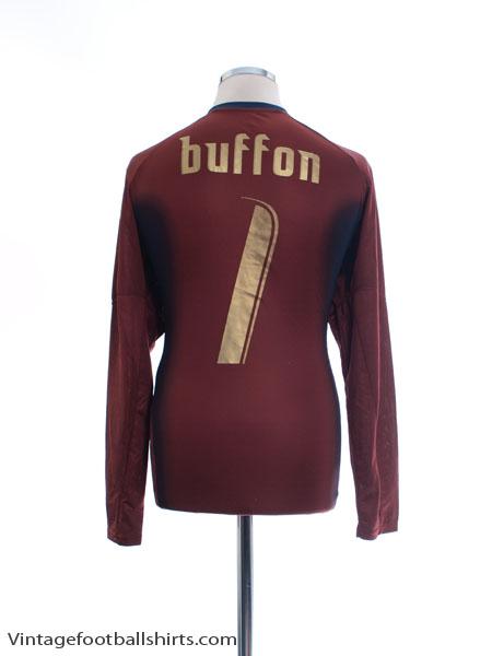 2006-07 Italy Goalkeeper Shirt Buffon #1 L - 734135