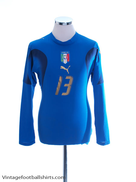 2006-07 Italy Player Issue Home Shirt #13 L/S Women's 14