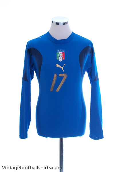 2006-07 Italy Player Issue Home Shirt #17 L/S Women's 14
