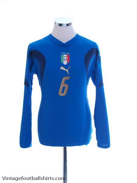 2006-07 Italy Player Issue Home Shirt #6 L/S Women's 14