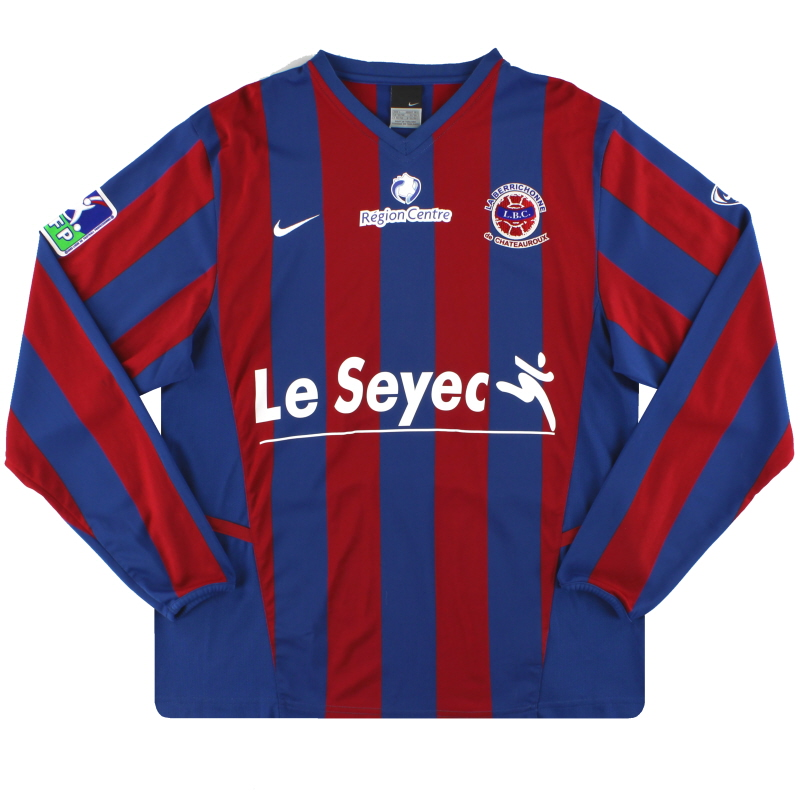 2006-07 LB Chateauroux Nike Home Shirt L/S L