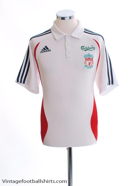 2006-07 Liverpool adidas Polo Shirt M