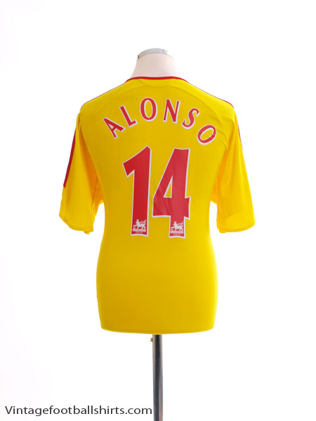 2006-07 Liverpool Away Shirt Alonso #14 L