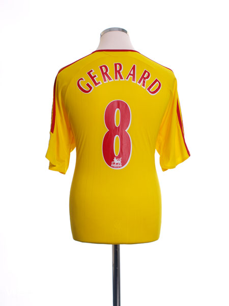 2006-07 Liverpool Away Shirt Gerrard #8 L