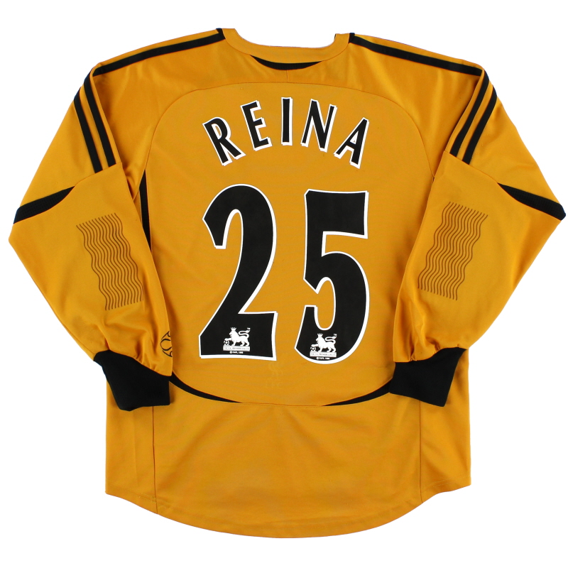 2006-07 Liverpool Goalkeeper Shirt Reina #25 L.Boys