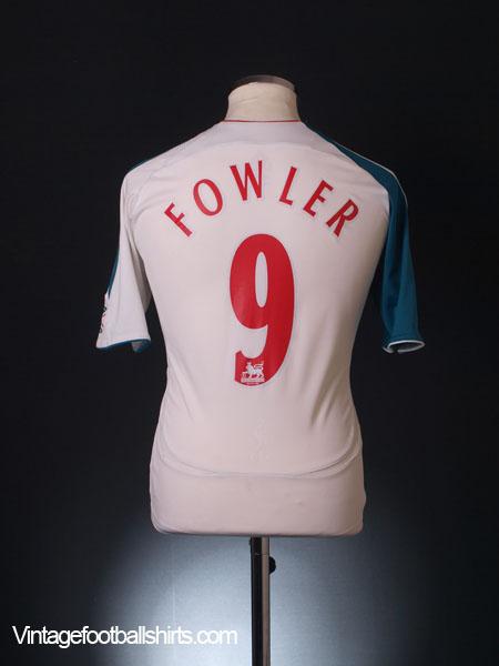 2006-07 Liverpool Third Shirt Fowler #9 XL.Boys