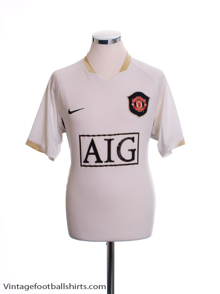 2006-07 Manchester United Away Shirt L
