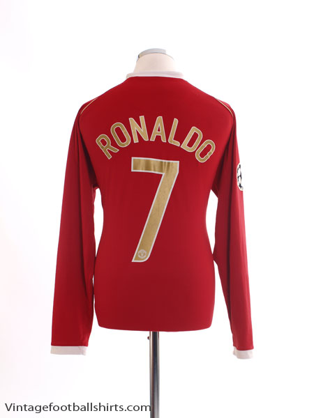 2006-07 Manchester United Home Shirt Ronaldo #7 L/S *Mint* L